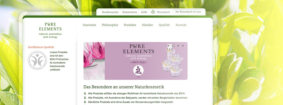 Webshop Pure Elements